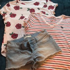 Abercrombie and Fitch Girls shorts & Tees